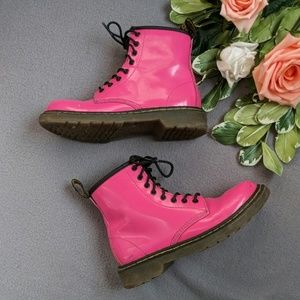 Doc Marten's pink Delany boots